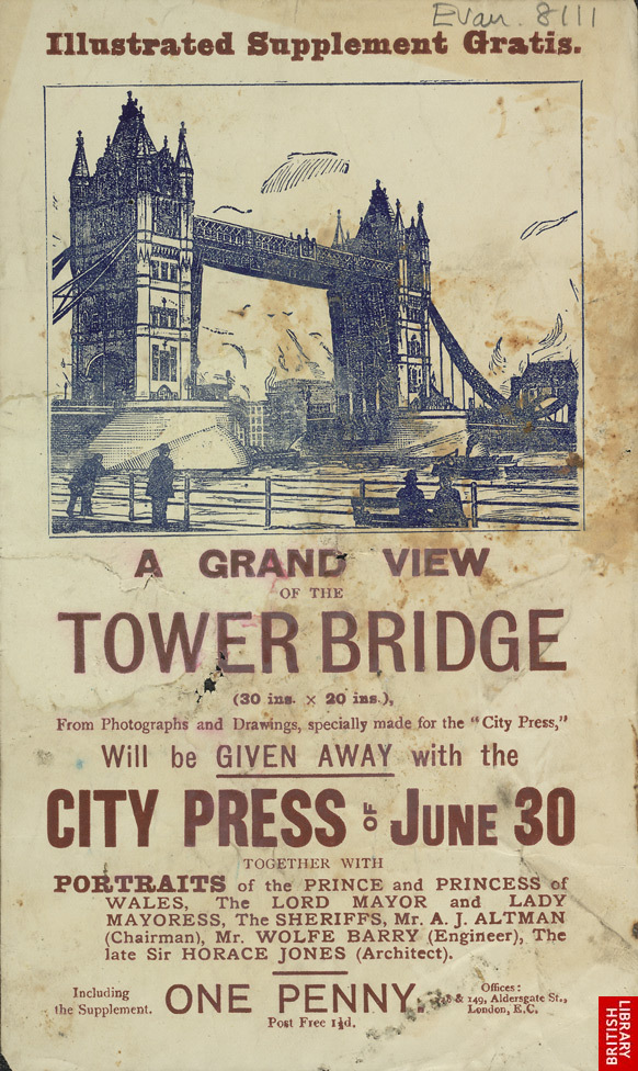 Advert for the 'City Press' newspaper, illustrated supplement